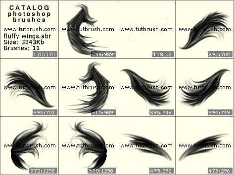 Кисти для фотошопа пушистые крылья