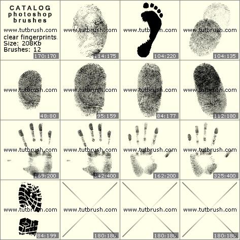 Кисти для фотошопа Четкие отпечатки пальцев