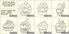 кремовые кексы - превью кисти фотошоп