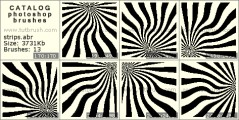 hypnotic stripes - photoshop brush preview