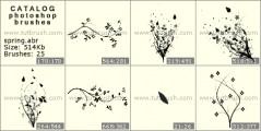 весенняя травка - превью кисти фотошоп
