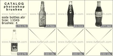 Photoshop brushes soda bottle