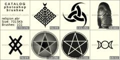 религии мира - превью кисти фотошоп