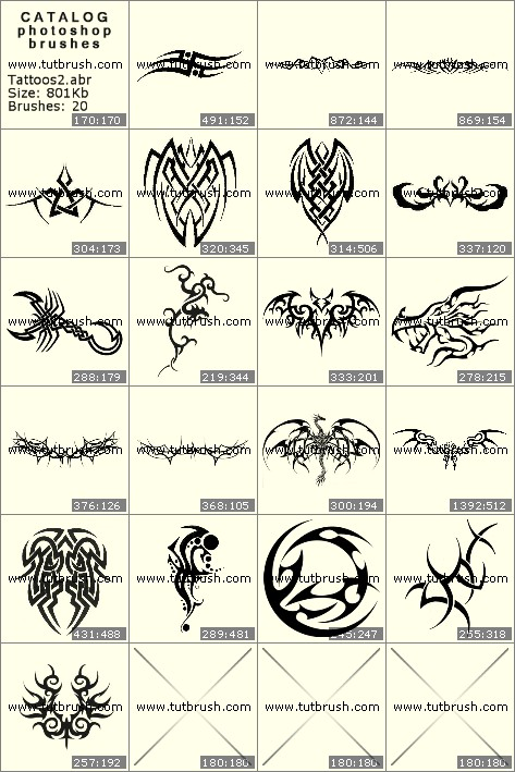 Кисти для фотошопа Родовые татуировки