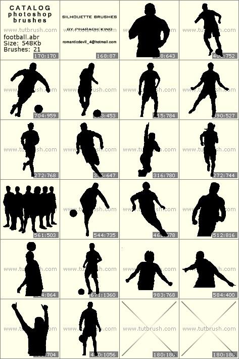 Кисти для фотошопа футболисты