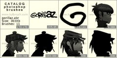 Gorillaz - photoshop brush preview