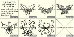 Метелики - прев`ю кисті фотошоп