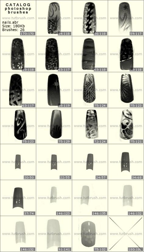 Кисти для фотошопа накрашенные ногти