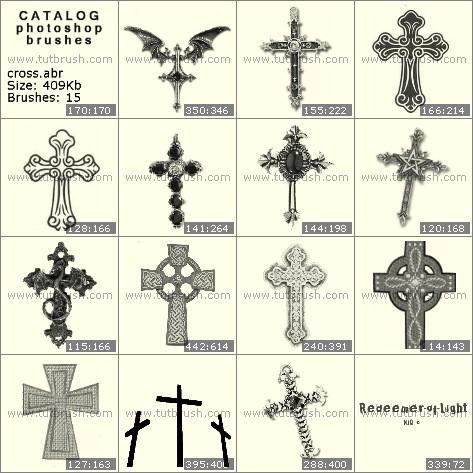 Кисти для фотошопа Украшенный крест