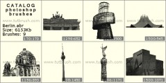 Buildings in Berlin - photoshop brush preview