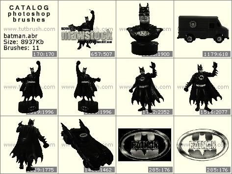 Кисти для фотошопа Статуэтка Batman
