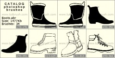 Boots - photoshop brush preview
