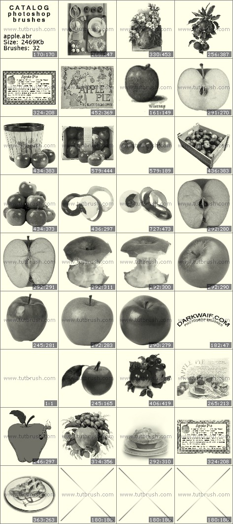 Photoshop brushes Apples