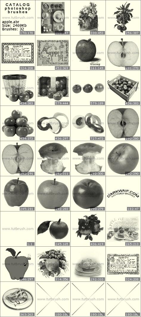 Photoshop brushes Apples