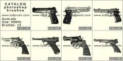 Guns - photoshop brush preview
