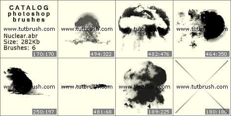 Кисті фотошоп Ядерний гриб