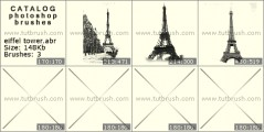 Eiffel tower - photoshop brush preview