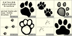 Animal Tracks - photoshop brush preview
