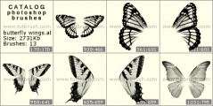 Butterfly wings - photoshop brush preview