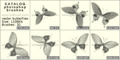 Vector Butterflies - photoshop brush preview