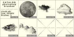 Облака и небо - превью кисти фотошоп