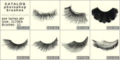 Luxury eyelashes - photoshop brush preview