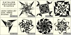 Векторные татуировки - превью кисти фотошоп
