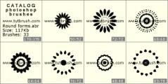 Круглые формы - превью кисти фотошоп