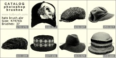 Stylish hats - photoshop brush preview