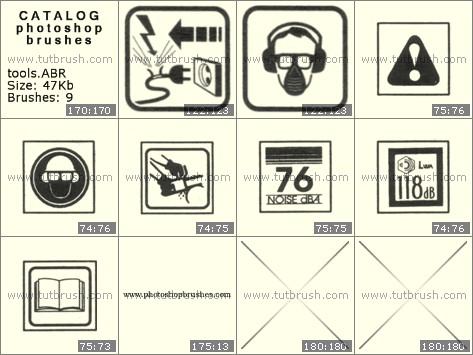 Кисті фотошоп Знаки інструментів