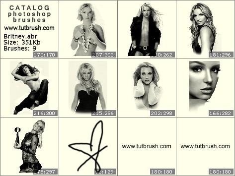 Кисти для фотошопа Britney Spears