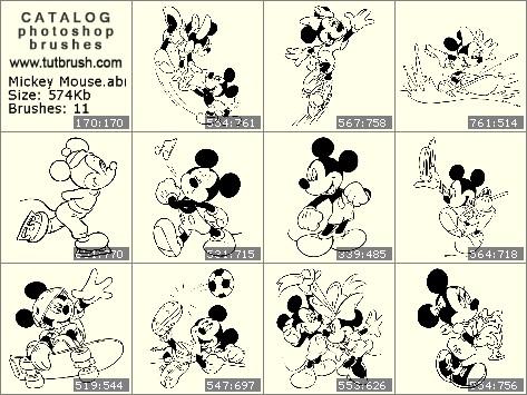 Photoshop brushes - Mickey Mouse