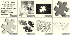 Puzzles - photoshop brush preview