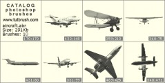 Layouts aircraft - photoshop brush preview