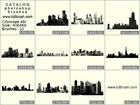 Photoshop brushes Major Cities