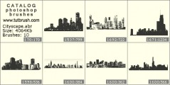 Major Cities - photoshop brush preview