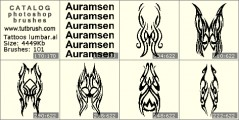 Tattoos for lumbar - photoshop brush preview