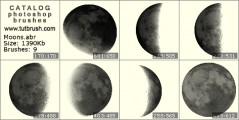 Cycles moon phases - photoshop brush preview