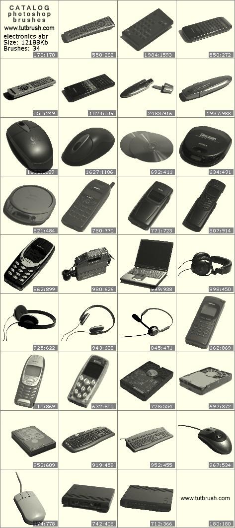 Кисти для фотошопа Электронные устройства