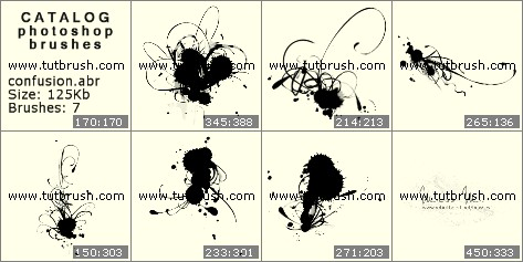 Photoshop brushes Drops of inks