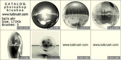 Кисти для фотошопа Зеркальный шар