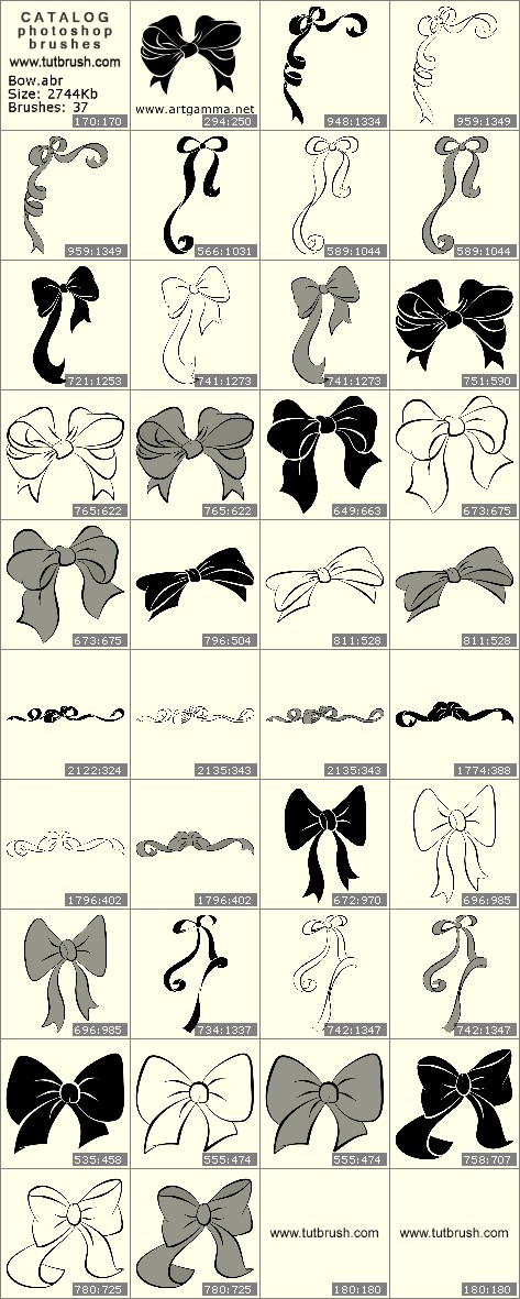 Photoshop brushes Bow