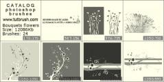 Букеты цветов - превью кисти фотошоп
