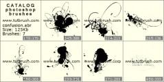 Капли чернил - превью кисти фотошоп