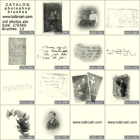 Кисти для фотошопа Старые фотографии