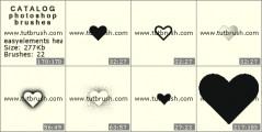Простые сердечки - превью кисти фотошоп