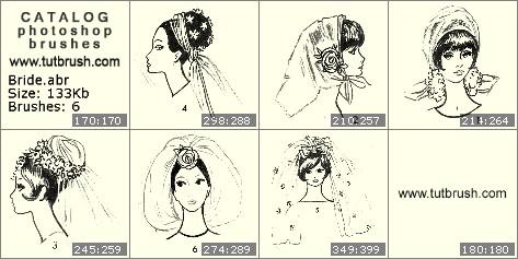 Кисти для фотошопа Невеста