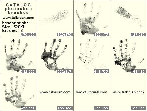 Кисти для фотошопа Отпечаток руки