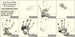 Fingerprint hands - photoshop brush preview