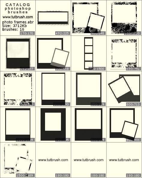 Кисти для фотошопа Рамки для фото